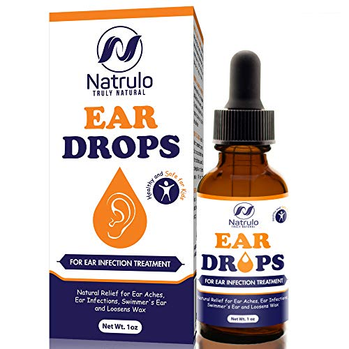 Natrulo Natural Ear Drops for Ear Infection Treatment -Homeopathic, Herbal Eardropsfor Adults, Children & Pets - Relieves Ear Aches, Infections, Swimmer