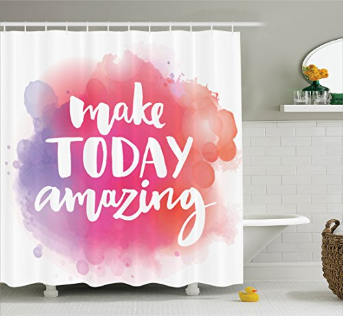 Ambesonne Collection Inspirational Watercolor Background