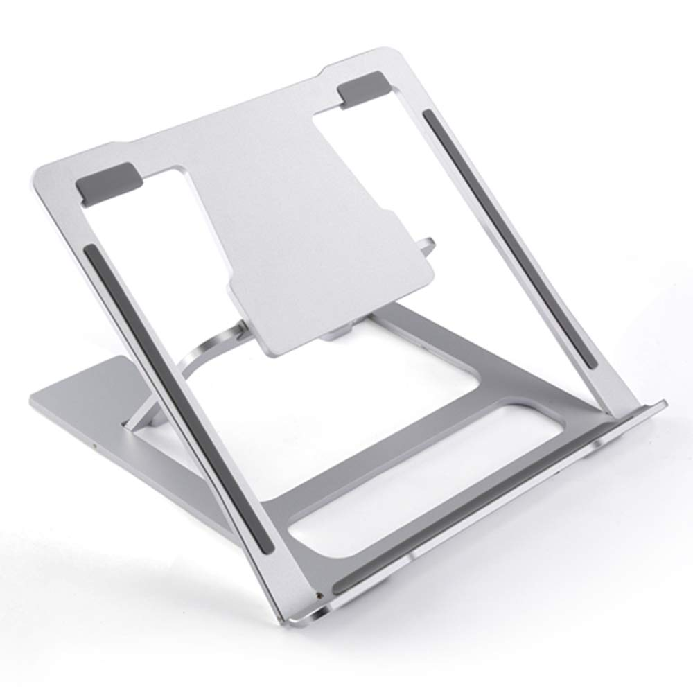 Zhihui Soporte Lapdesks ZZHF diannaozhijia Soporte Zhihui Vertical para Viaje portátil Macbook con 6 ángulos Ajustables para Notbook, portátil y Macbooks de hasta 15 Pulgadas - Aluminio Plateado 22b186