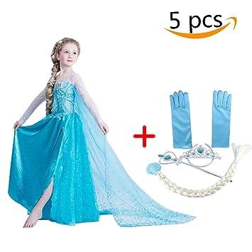 1587ab0d2ccdd アナと雪の女王 エルサ 風 プリンセス 子供用 ドレス コスチューム 仮装 衣装 女児用