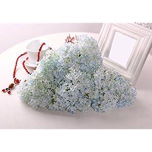 Eforstore 5Pcs Lifelike Artificial Hydrangea Mini Fresh Silk Flower Home Hotel Wedding Party Garden Floral Decor 62