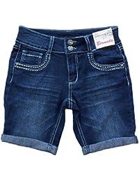 6b532457dfc Girl's Lace Embellished Bermuda Jean Shorts (10) · Vanilla Star