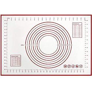 "Silicone Baking Mat, Non Stick Ectra Thick Counter Mat with Measurement Baking Sheet, Fondant Mat, Dough Rolling Mat, Pie Crust Mat (16'' W x 20"" L)"