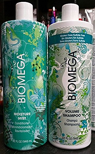 Biomega Volume Shampoo (32 Oz) & Moisture Mist Conditioner (32oz) Liter (Moisture Light Shampoo)