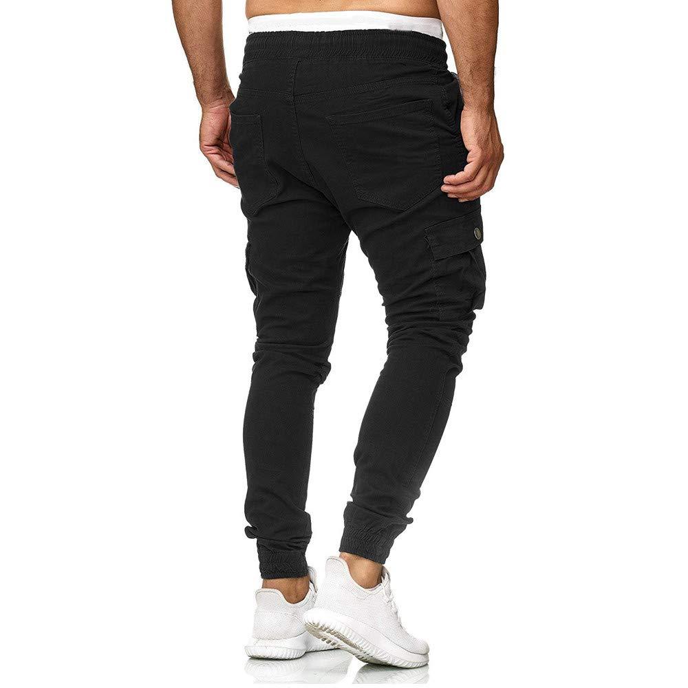 Pantalon Moulant pour Homme,Kinlene Pantalons de surv/êtement pour Hommes Pantalons Casual Joggings /élastiques Sport
