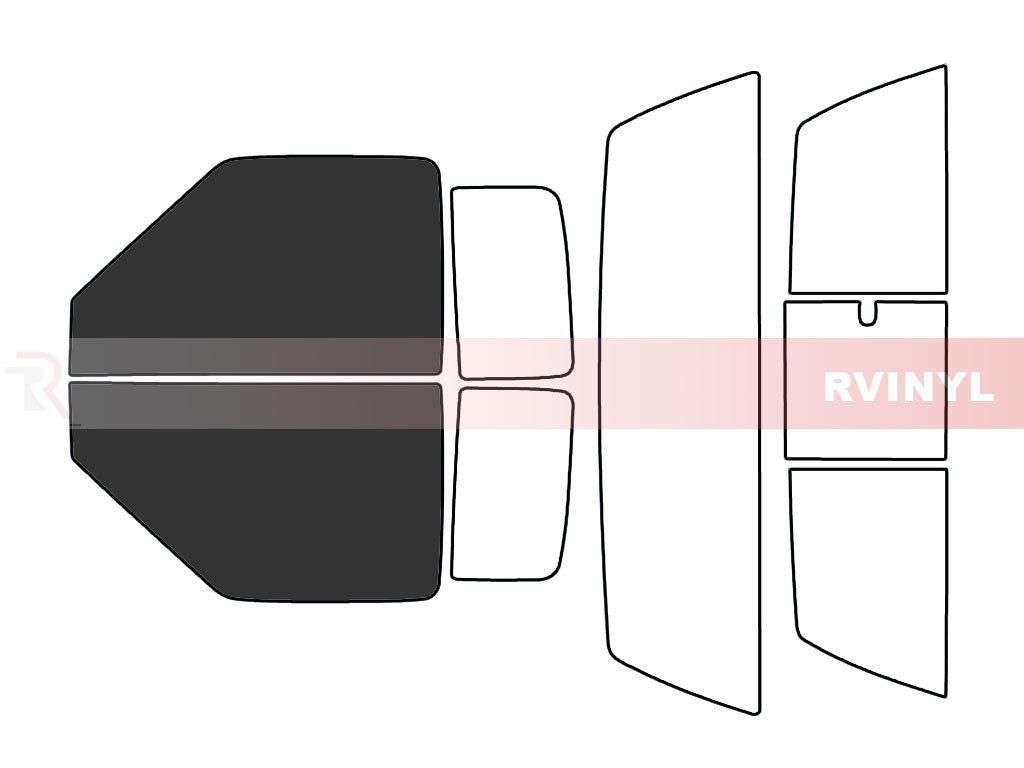 2 Door 5/% Rtint Window Tint Kit for Chevrolet S-10 1994-2003 - Complete Kit
