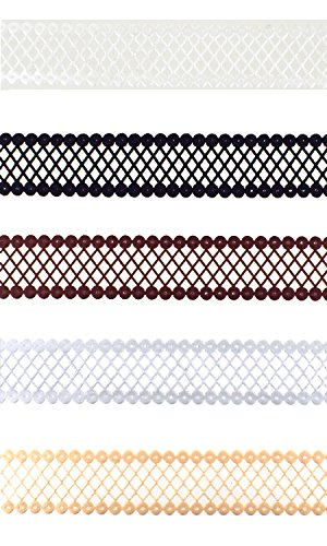 Trimweaver TW-78-LASER-CUT-DIAMOND-TRIM-VAR1-25YD 30 yd. Laser Cut Diamond Pattern Trim Ribbon (Pack of 1), 7/8