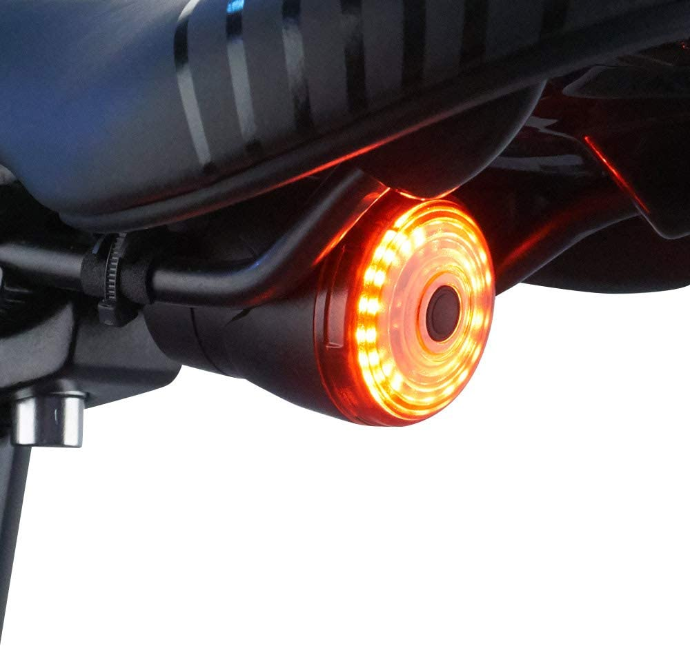 USB Rechargeable Brake Sensing Bicycle Red Ultra Bright Smart Bike Tail Light