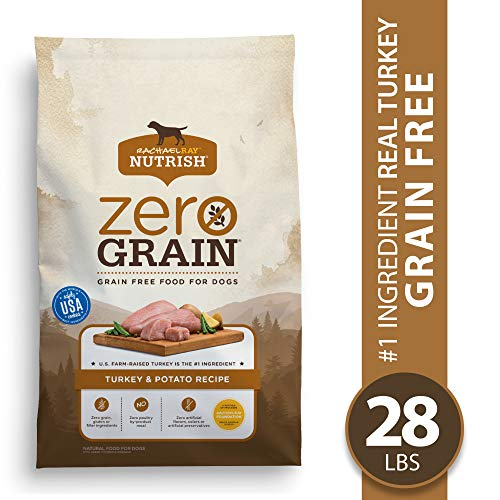 Rachael Ray Nutrish Zero Grain Natural Dry Dog Food, Grain Free Turkey & Potato Recipe, 28 Lbs