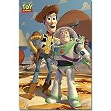 (22x34) Toy Story Movie (Woody & Buzz Lightyear) Poster Print