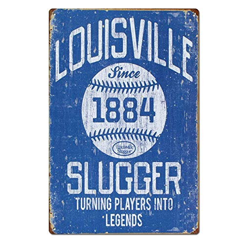 Crazy Halloween,Metal Sign 8x12 Inches Louisville Slugger Baseball Sports Vintage Novelty Art House Decor for Halloween 26dzgbyuoot