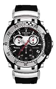 Tissot Men's T0274171705100 T-Race Moto Black Stainless Steel Watch