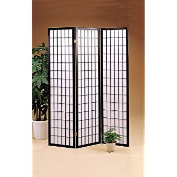 this item acme 71inchhigh black wood folding screen