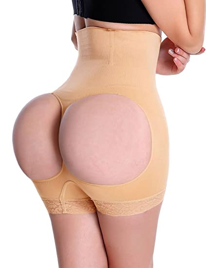 a059d9f34b Image Unavailable. Image not available for. Color  Lelinta High Waist Butt  Lifter Tummy Control Butt Enhancer Boy Shorts Shaper Panty