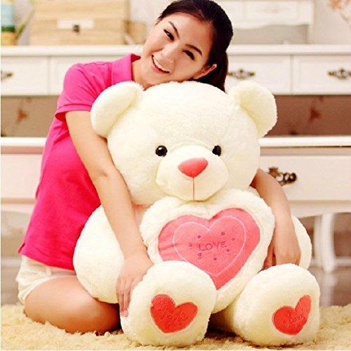 Stuffed Animal Teddy Bear Plush Soft Toy 100CM Huge Soft Toy White - 8