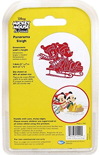 Character World Limited DUS0110 Panorama Sleigh Die Set, Silver