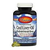 Carlson Labs Cod Liver Oil, Lemon, 150 Count