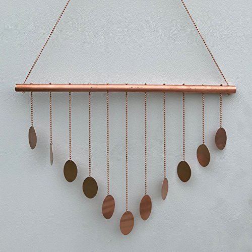 Copper Mobile, Copper Wind Chime with Circles