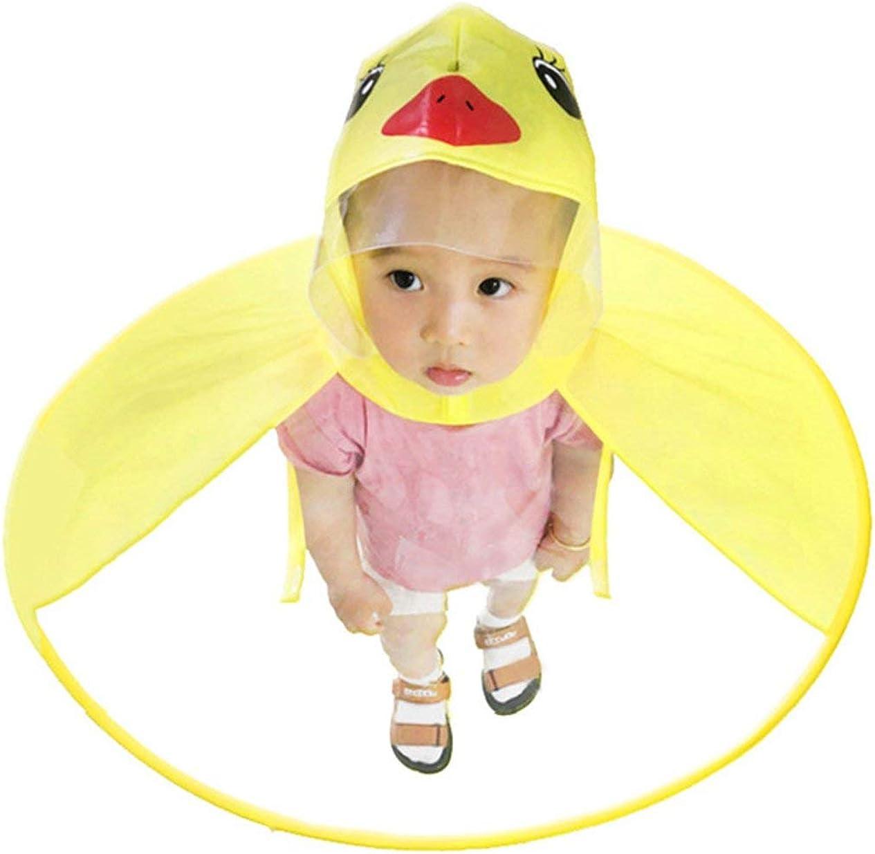 Gelb IronHeel Kinder Regenmantel UFO Regenm/äntel H/ände frei Baby Lustige Ente Regenmantel Regenschutz Durable Kinder Zubeh/ör