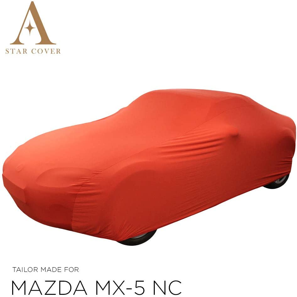 AUTOABDECKUNG ROT PASSEND F/ÜR Mazda MX-5 NC INNEN SCHUTZH/ÜLLE ABDECKPLANE SCHUTZDECKE VOLLGARAGE Cover