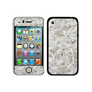 Graphics and More Protective Skin Sticker Case for iPhone 3G 3GS - Non-Retail Packaging - Rice - Uncooked