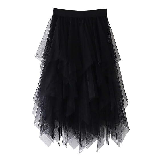 Falda Plisada gótica para Mujer con Cintura Alta, Falda de Ballet ...