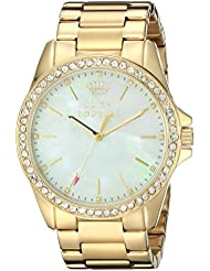 Juicy Couture Womens 1901261 Stella Analog Display Quartz Gold Watch