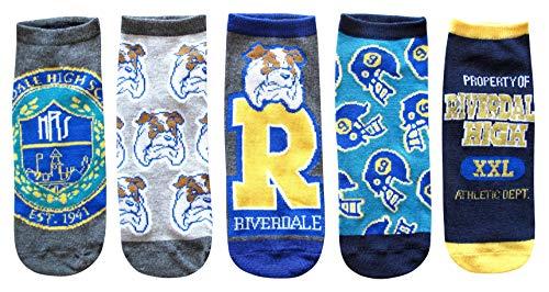 Hyp Riverdale Juniors/Womens 5 Pack Ankle Socks Size 4-10