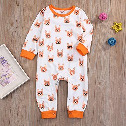 Rail Crossing Infant Girls Boys Organic Cotton Bodysuit Romper Jumpsuit