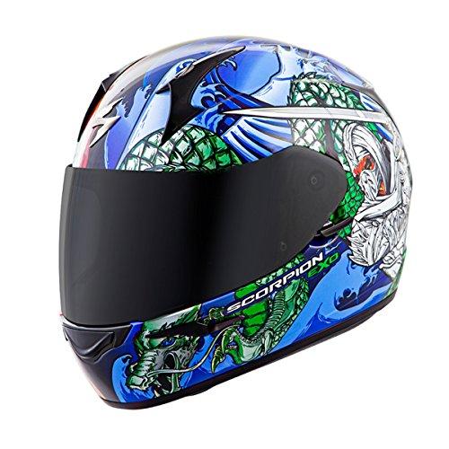 Scorpion EXO-R410 Bushido Motorcycle Helmet (Red/Blue, Small)