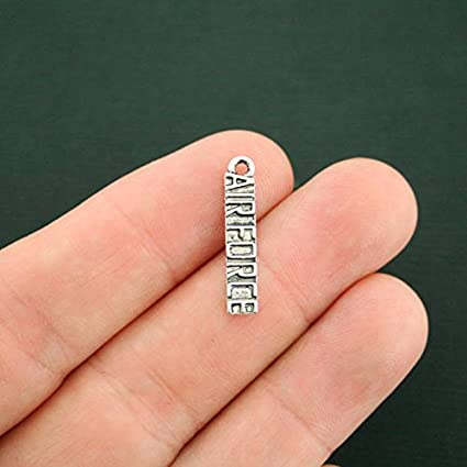8 Air Force Charms Antique Silver Tone SC7392