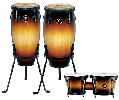 Meinl Headliner Series 11'' & 12'' Conga and Bongo Set, Vintage Sunburst by Meinl Percussion