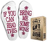 Wine Gifts for Women - Fun Cozy Socks for Women. Great Wine Accessories and Gifts for Women Under 25 Dollars !