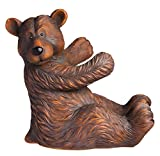 Gifted Living 2BHS4974 Sitting Polystone Bear Wine Bottle Holder, Multicolored