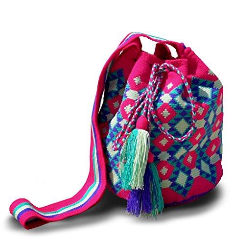 Borsa A Tracolla Wayuu Tradizionale Tessuta A Mano Autentica Modello Forma Wac600