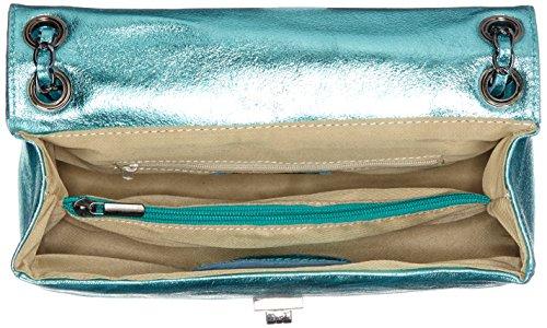 Chicca Borse 8634, Borsa a Spalla Donna, 28x18x10 cm (W x H x L) Turchese (Marina)