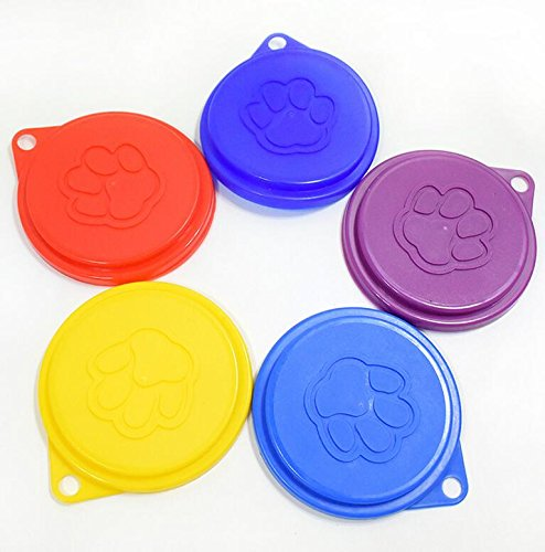 DaHanBL Claw Print Reusable Pet Dog Tin Cat Food Food Cover Lid Top Cap (Random color)
