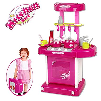 Buy Kartfy Kitchen Set Kids Luxury Battery Operated Kitchen Super
