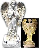 Beautiful Praying Solar Angels With 2 Yellow LED Solar Angel Lights