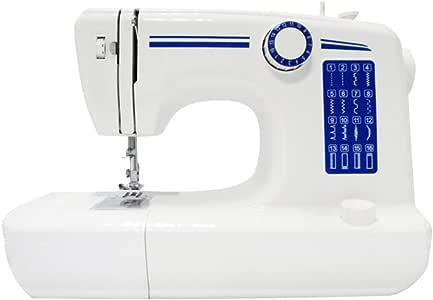 Máquina de coser multifuncional de punto de costura de 16 puntos Máquina de coser portátil de doble línea Pedal de punto de reversa de dos velocidades Lámpara de mesa: Amazon.es: Hogar