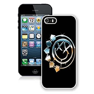 New Unique DIY Antiskid Skin Case For Iphone 5S blink 182 (2) iPhone 5s White Phone Case 052