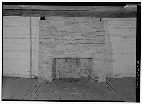 Vintography 8 x 12 Photo 13. Interior North Room, Close View South Wall Fireplace Scale - The Hermitage, Alfred's Cabin, 4580 Rachel's Lane, Hermitage, Davidson County, TN 1851 31a by Vintography