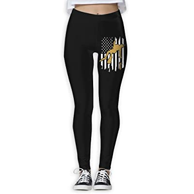 DDCYOGA Rescue Swimmer Flag Women's Tights Activewear Yoga Pants Exercise Gym Jogger Pants For Girls
