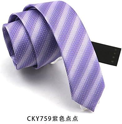 Gentlee - Corbata de hombre con diseño de rayas azules y texto en ...