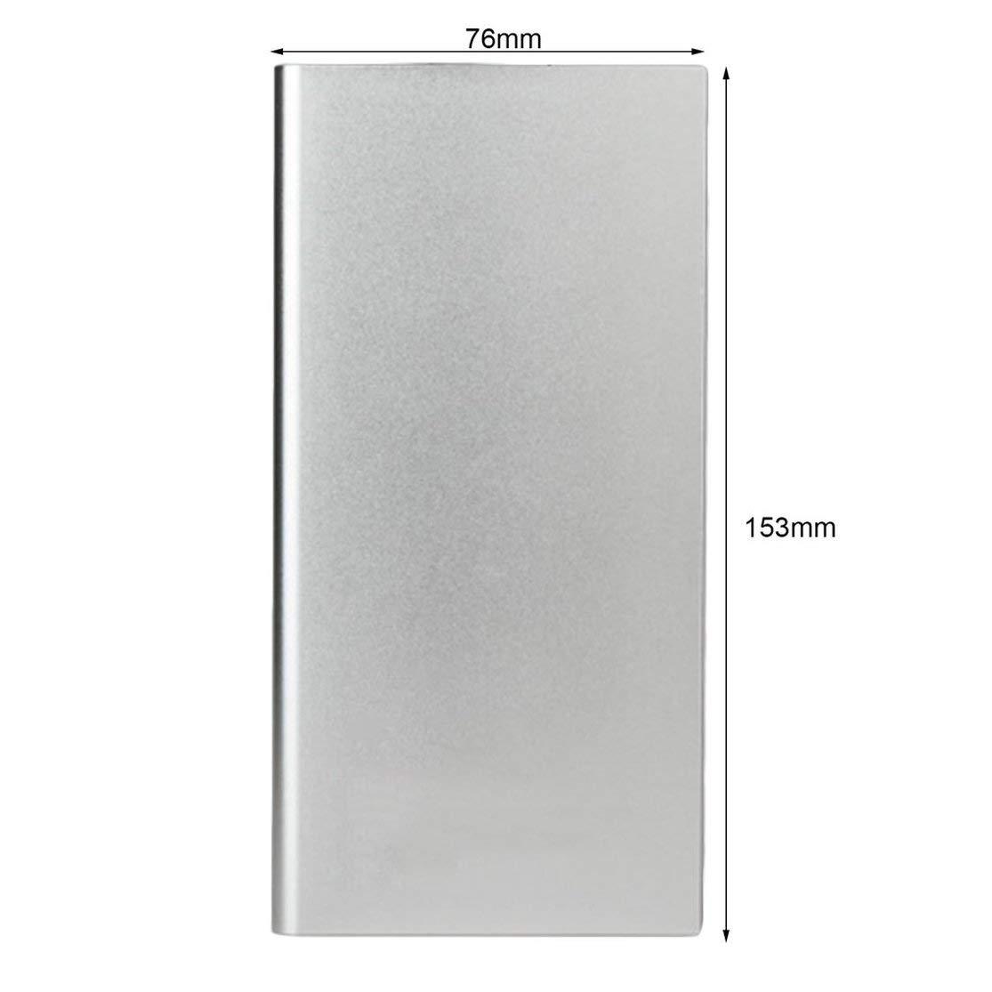 LouiseEvel215 6000mAh Universal Power Bank Fuente de alimentaci/ón USB Doble ultrafina DE 9,5 mm para cargadores de bater/ías port/átiles