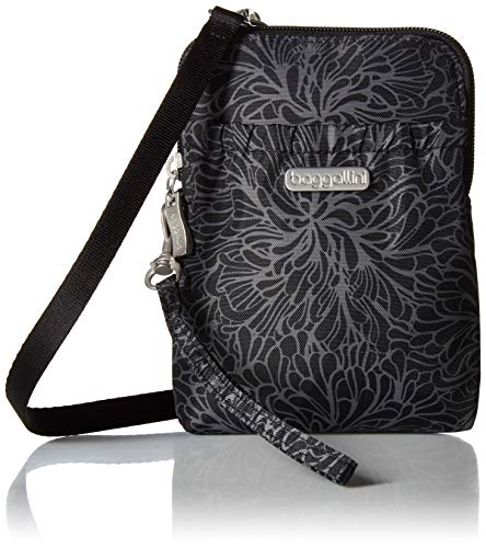 (Baggallini Women's RFID Bryant Pouch, Midnight Blossom)