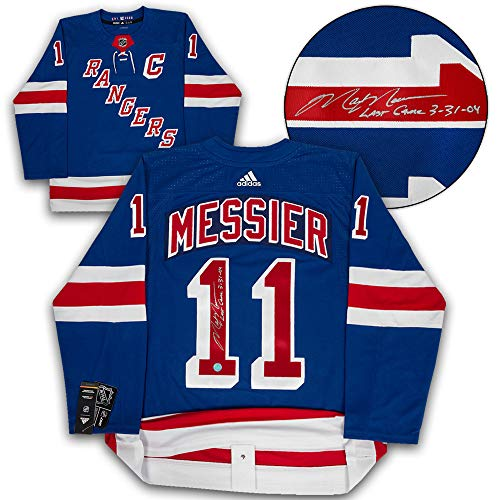 Mark Messier New York Rangers Autographed Adidas Authentic Hockey Jersey Last Game ()