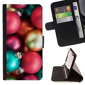 For Sony Xperia Z3 Compact / Z3 Mini (Not Z3) Case , Vacaciones de Navidad Decoraciones de Navidad de invierno- la tarjeta de Crédito Slots PU Funda de cuero Monedero caso cubierta de piel