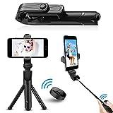 Bluetooth Selfie Stick Tripod, ANTOPM 2 in 1 Extendable Selfie Stick with Wireless Remote / Tripod Selfie Stick for iPhone X/iPhone 8/8 Plus/iPhone 7/iPhone 7 Plus/Galaxy S9/S9 Plus/Note 8/S8 /S8 Plus