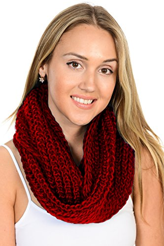 Basico-Women-Warm-Circle-Ring-Infinity-Scarf-Neck-Warmer-Various-Colors
